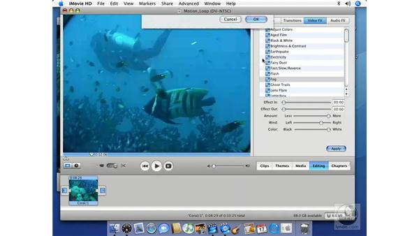 Adding Motion Video backgrounds: iMovie HD 6 + iDVD 6 Essential Training