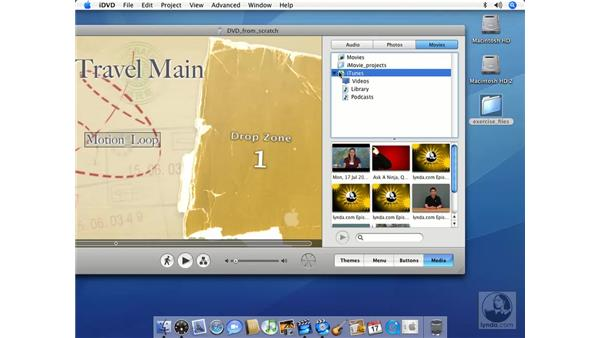 Adding movies: iMovie HD 6 + iDVD 6 Essential Training