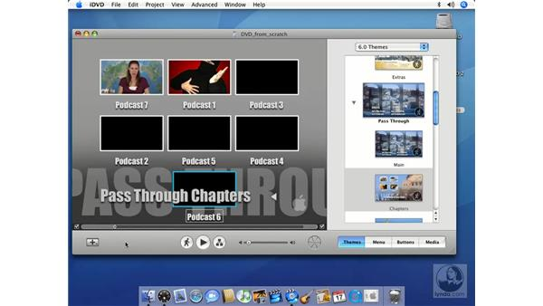Adding submenus: iMovie HD 6 + iDVD 6 Essential Training