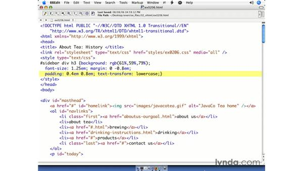 Using linked and embedded style sheets together: CSS Web Site Design