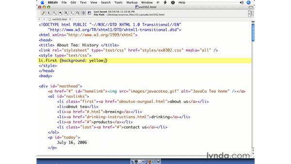 Class selector essentials: CSS Web Site Design