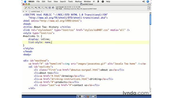 Creating a navbar from a list: CSS Web Site Design