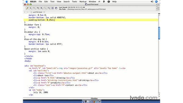 Padding: CSS Web Site Design
