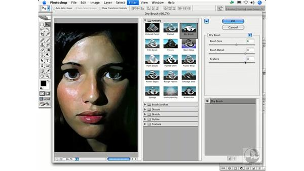 Dry Brush: Photoshop Filters
