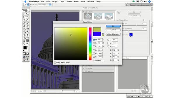 Neon Glow: Photoshop Filters