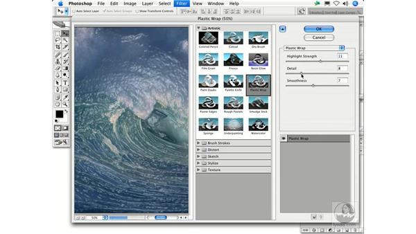 Plastic Wrap: Photoshop Filters
