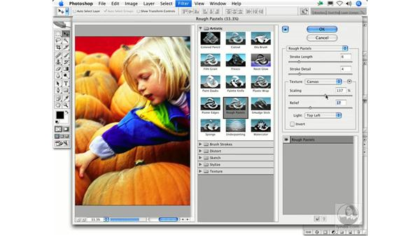Rough Pastels: Photoshop Filters
