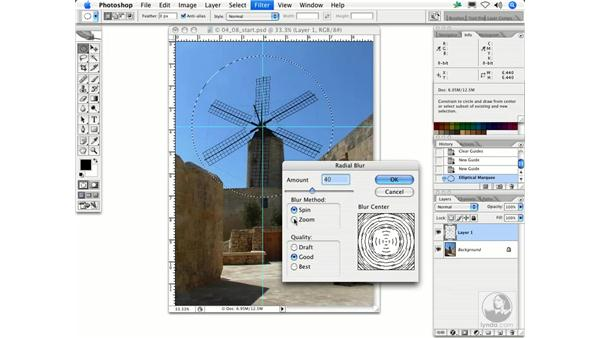 Radial Blur: Photoshop Filters