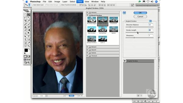 Angled Strokes: Photoshop Filters