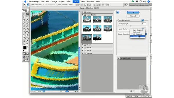 Sprayed Strokes: Photoshop Filters