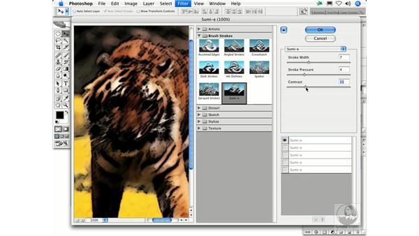 Sumi-e: Photoshop Filters