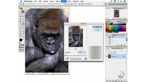 Spherize: Photoshop Filters