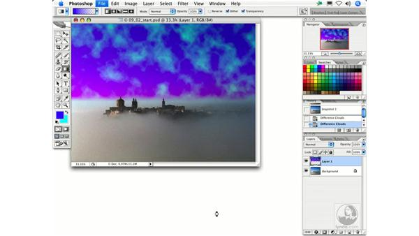 Difference Clouds: Photoshop Filters