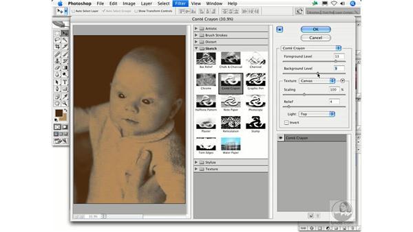 Conté Crayon: Photoshop Filters