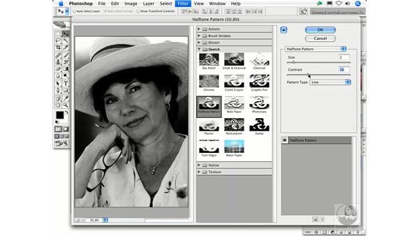 Halftone Pattern: Photoshop Filters