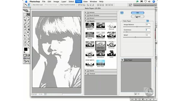 Note Paper: Photoshop Filters