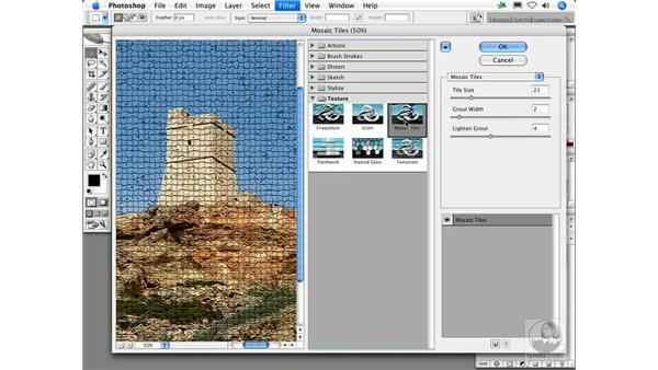 Mosaic Tiles: Photoshop Filters