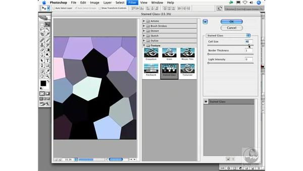 Stained Glass: Photoshop Filters