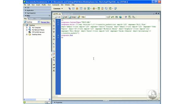 Using an XML object to call a server-side script: Flash Professional 8 Building Data-Driven Applications