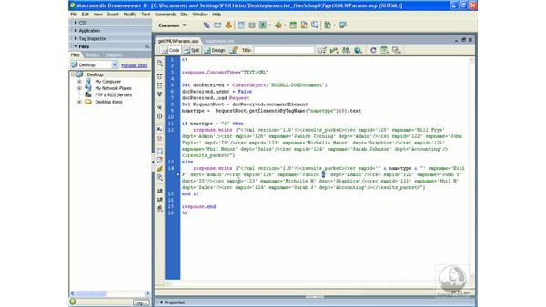 Using an XML object to send parameters to a server-side script: Flash Professional 8 Building Data-Driven Applications