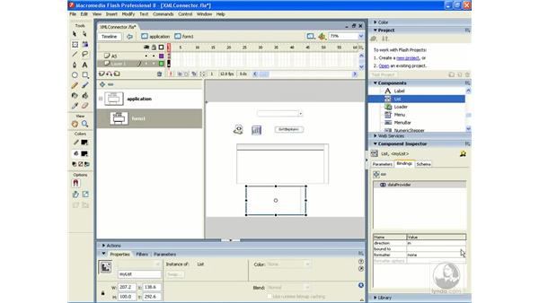 Dynamically populating lists and combo boxes: Flash Professional 8 Building Data-Driven Applications