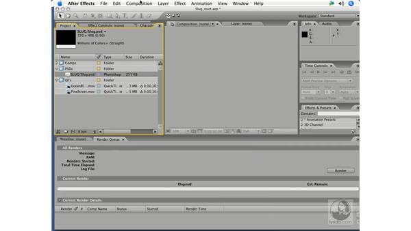 Importing and compositing footage: After Effects 7 Title Design Techniques