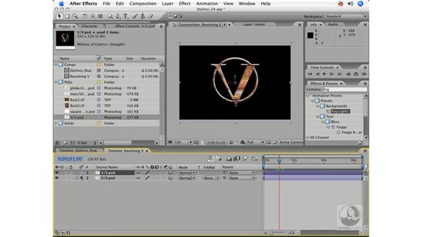 Creating a 3-D revolving V: After Effects 7 Title Design Techniques