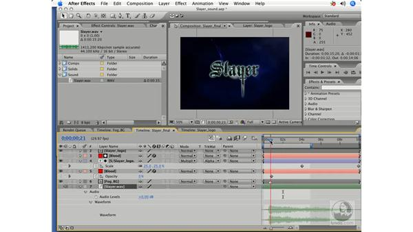 Benefits of adding sound: After Effects 7 Title Design Techniques