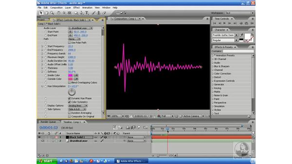 Using the Audio Spectrum and Audio Waveform effects: After Effects 7 and Flash 8 Integration