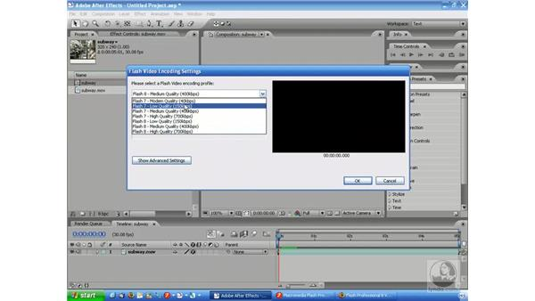 Basic FLV exporting: After Effects 7 and Flash 8 Integration