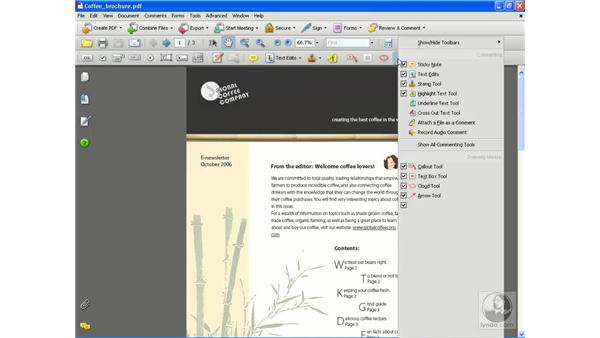 The toolbars: Getting Started with Acrobat 8 Professional