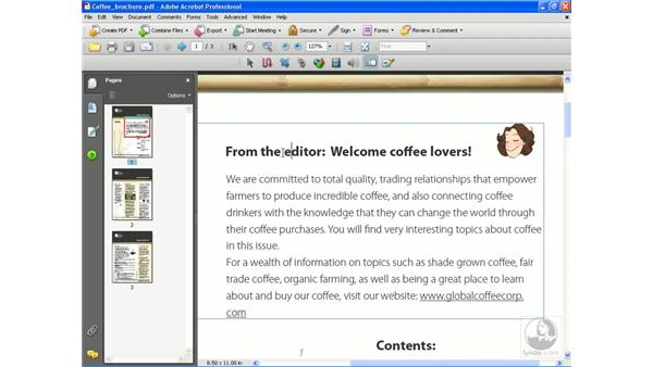 Touching up text and images: Getting Started with Acrobat 8 Professional