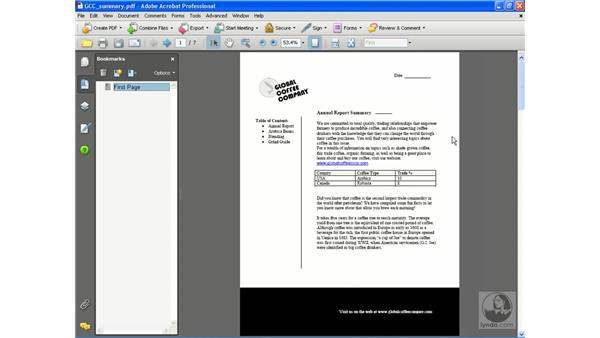 Creating bookmarks: Getting Started with Acrobat 8 Professional