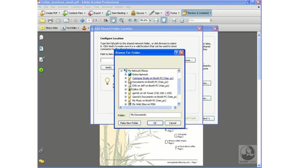 Initiating shared reviews: Getting Started with Acrobat 8 Professional