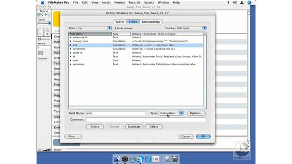 Modifying fields: FileMaker Pro 8.5 Essential Training