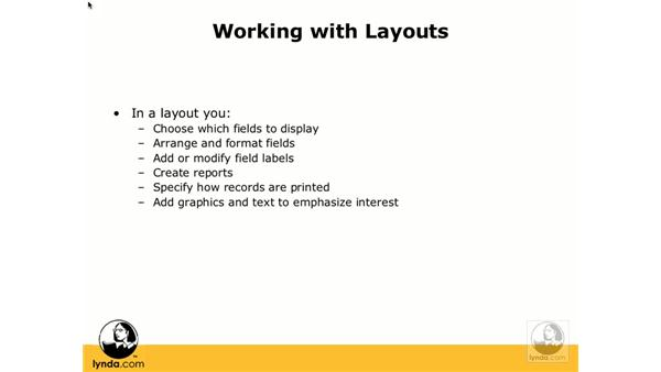 Creating layouts: FileMaker Pro 8.5 Essential Training