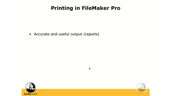 Print layouts: FileMaker Pro 8.5 Essential Training