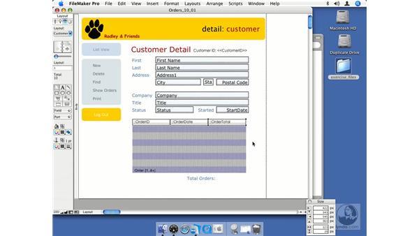 Creating portals: FileMaker Pro 8.5 Essential Training
