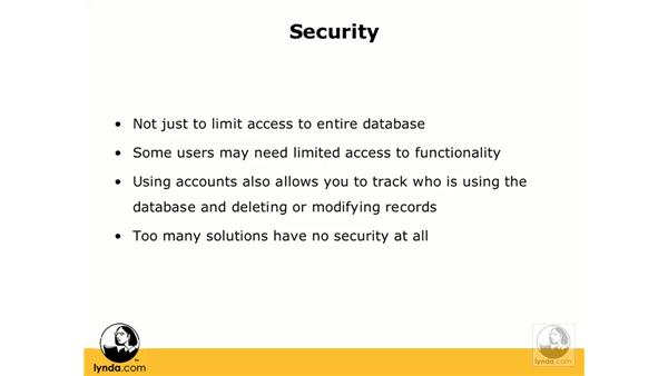 Security overview: FileMaker Pro 8.5 Essential Training