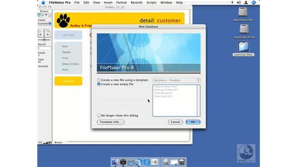 Understanding default accounts: FileMaker Pro 8.5 Essential Training