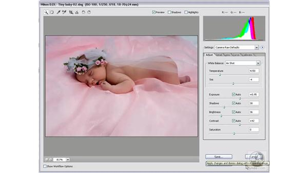 Open versus Done: Photoshop CS2 Mastering Camera Raw