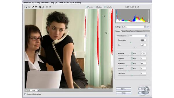 More fun with clipped highlights: Photoshop CS2 Mastering Camera Raw