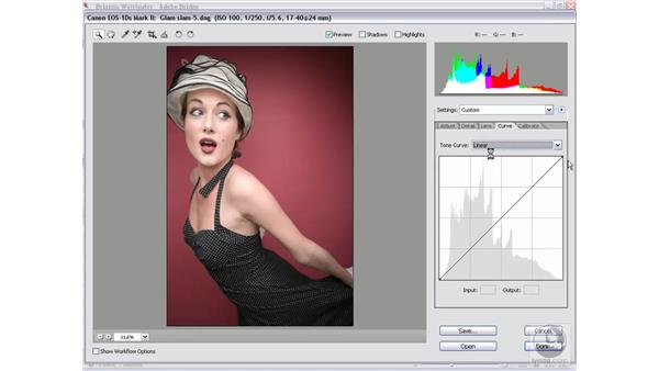 Curve and Auto adjustments: Photoshop CS2 Mastering Camera Raw