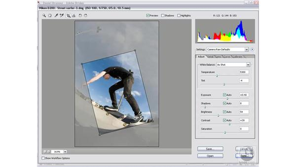 Cropping constraints: Photoshop CS2 Mastering Camera Raw