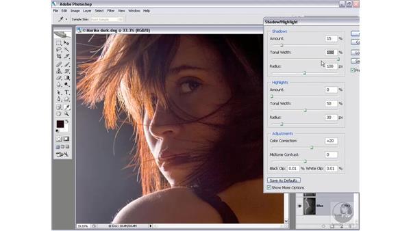 Adjusting radical lighting: Photoshop CS2 Mastering Camera Raw