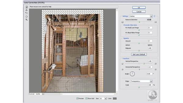 Correcting lens distortion: Photoshop CS2 Mastering Camera Raw