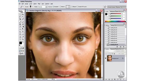 Retouching defects: Photoshop CS2 Mastering Camera Raw