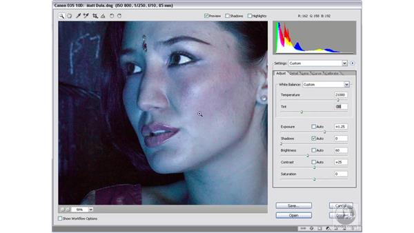 Extreme color corrections: Photoshop CS2 Mastering Camera Raw