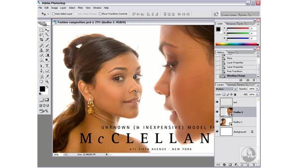 Blending portraits: Photoshop CS2 Mastering Camera Raw