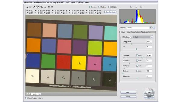 Calibrating your camera #4: Saving the defaults: Photoshop CS2 Mastering Camera Raw